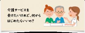 介護サービスを受けたいけれど、何から始めたらいいの?